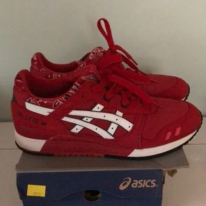 Men's ASICS red bandana sneakers
